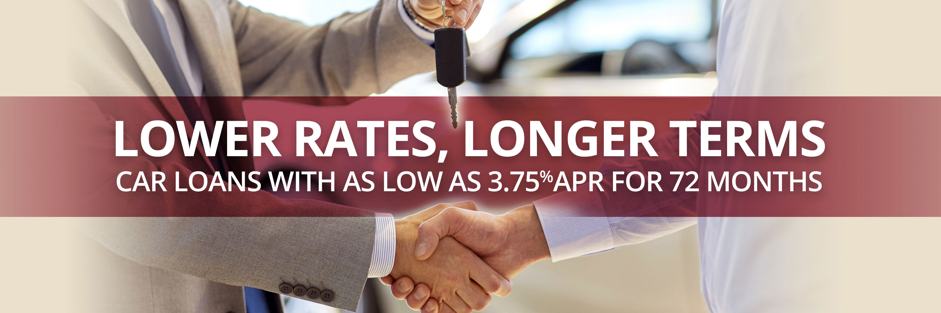Car loans as low as 3.75% for 72 months!
